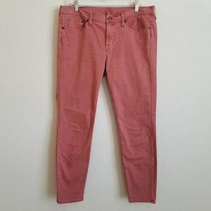 J. CREW Salmon Wash Skinny Jeans Stretch 32